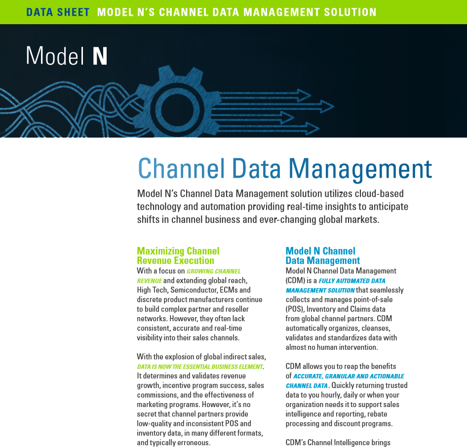 Datasheet: Channel Data Management - Model N