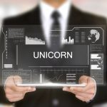 Unicorn, Hologram Futuristic Interface, Augmented Virtual Reality