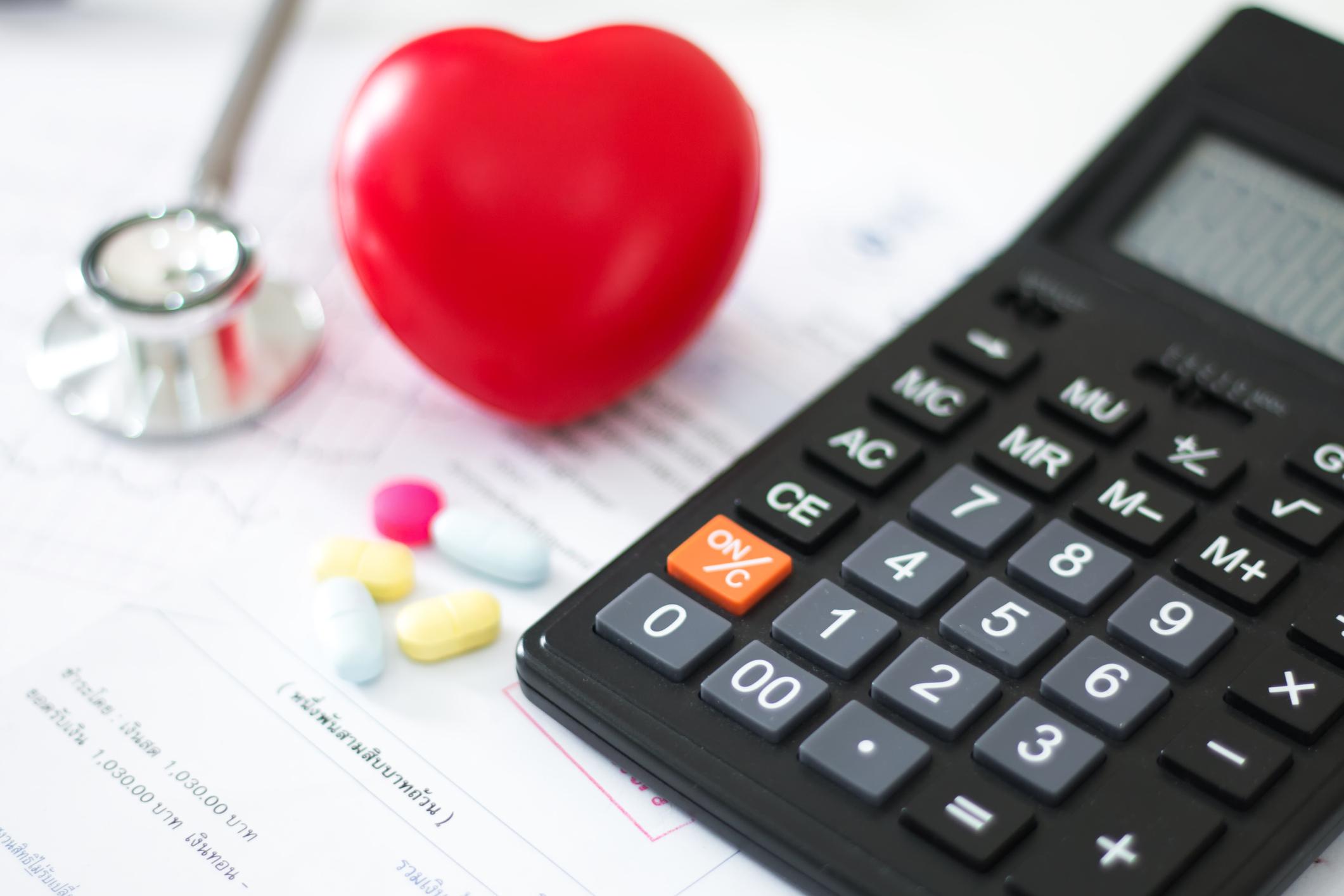 cost of health care. concept,Heart disease,Heart disease center ,Heart medication
