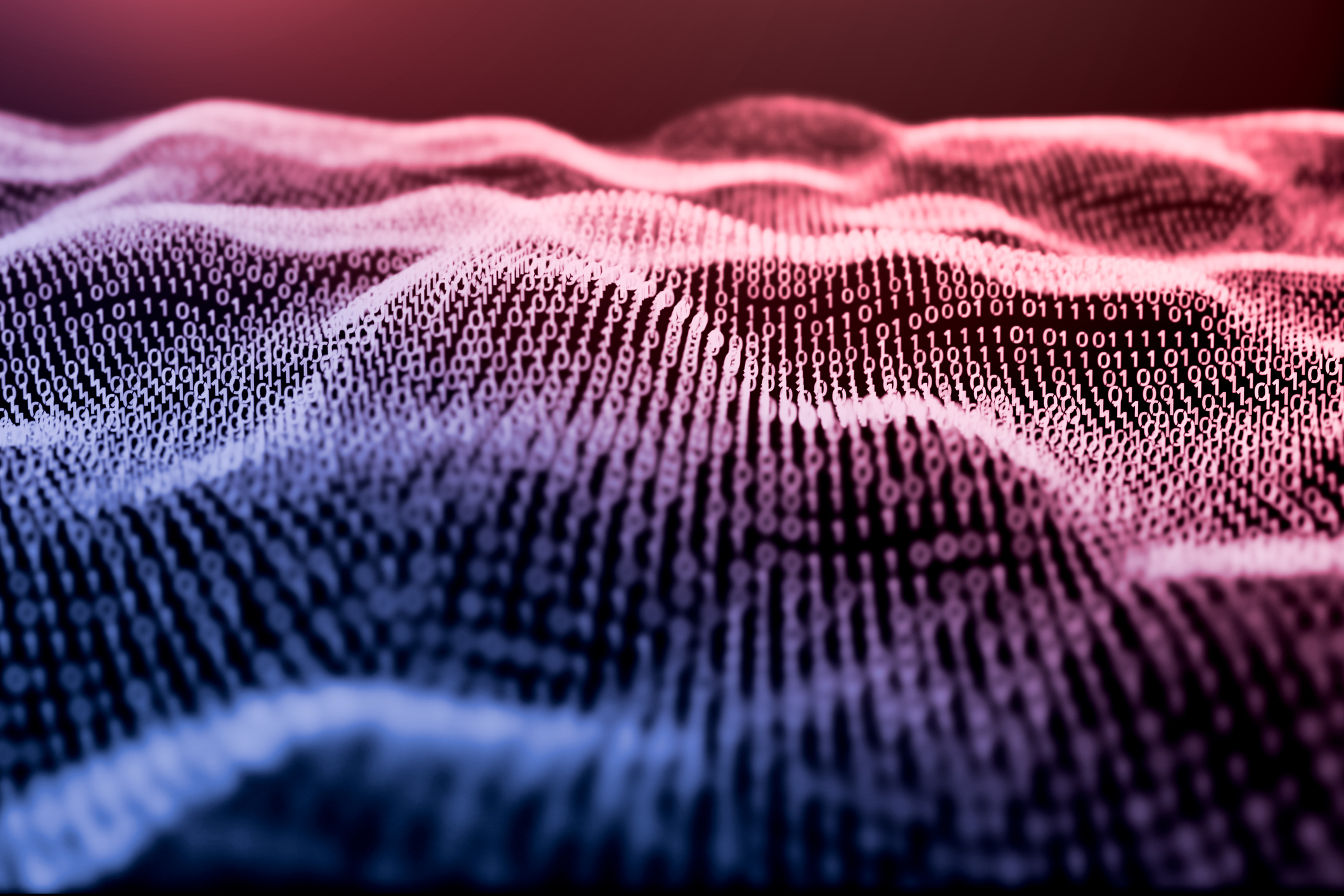 3D illustration Rendering of binary code pattern