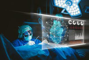 Digital Composite Image Of Doctor Working In Hospital