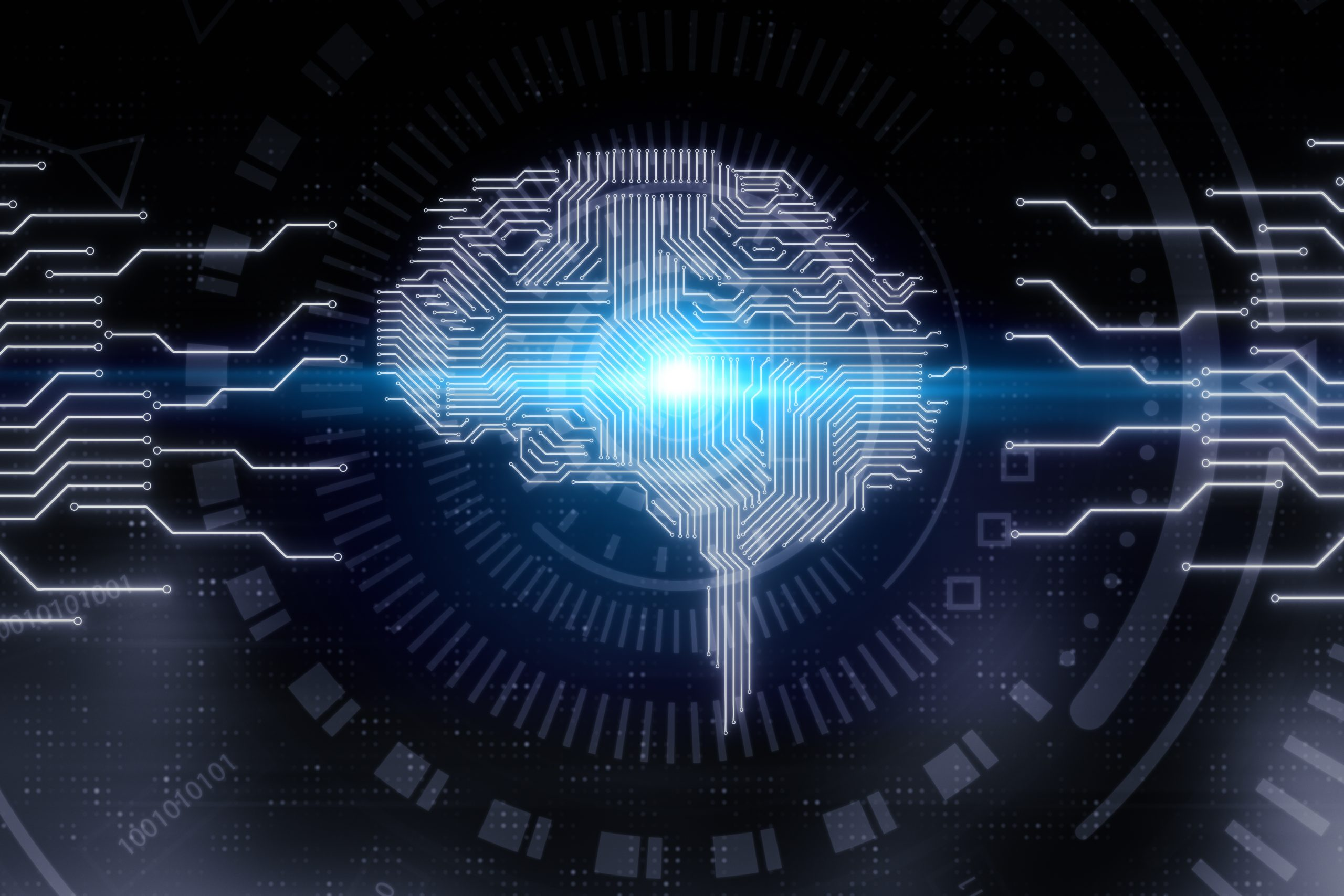 Artifical intelligence and tech concept
